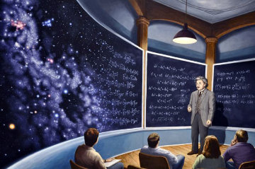 Chalkboard Universe AP 2010 Limited Edition Print by Rob Gonsalves