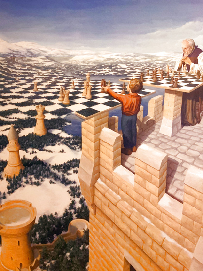 Chess Master Limited Edition Print by Rob Gonsalves