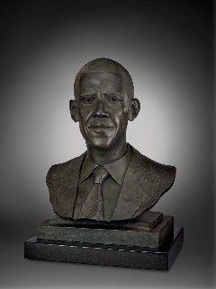Barack Obama Bronze Sculpture 2012 21 in  Sculpture - Matthew  Gonzales