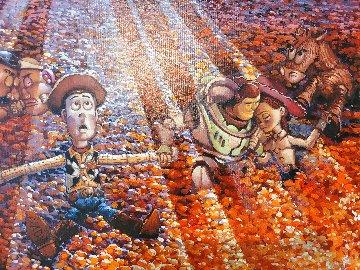 Untitled Painting 2014 28x34 Original Painting - Rodel Gonzalez