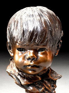 Little Sister Bronze Sculpture 1978 12 in Sculpture - Glenna Goodacre