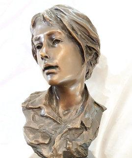 Untitled Bronze Sculpture  1992 8 in Sculpture - Glenna Goodacre