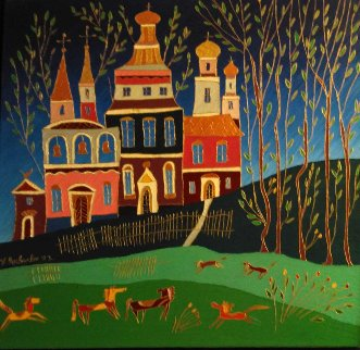 Autumn in St. Petersburg 1992 35x24 Original Painting by Yuri Gorbachev
