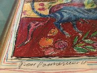 Of a Cat 1996 12x15 Embellished Works on Paper (not prints) by Yuri Gorbachev - 2