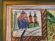 Of a Cat 1996 12x15 Embellished Works on Paper (not prints) by Yuri Gorbachev - 5