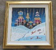 Winter Sleigh Ride  1994/33x33 Original Painting by Yuri Gorbachev - 1