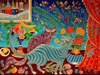 Two Cats PP Limited Edition Print by Yuri Gorbachev - 1