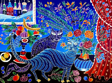 Two Cats PP Limited Edition Print by Yuri Gorbachev