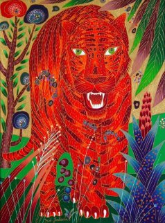 Asian Tiger 2001 40x30 Original Painting - Yuri Gorbachev