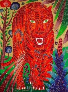 Asian Tiger 2001 40x30 Super Huge Original Painting - Yuri Gorbachev