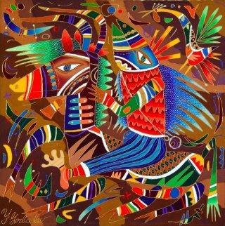 Holiday 1993 30x30 Original Painting by Yuri Gorbachev