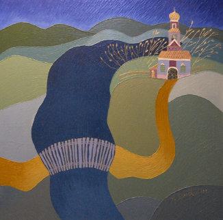 Landscape # 12 1996 36x36 Original Painting - Yuri Gorbachev