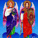 Archangels Gabriel And Michael 2012 24x24 Original Painting by Yuri Gorbachev - 0