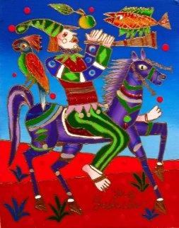 Musician /Musition 2013 10x8 Original Painting - Yuri Gorbachev