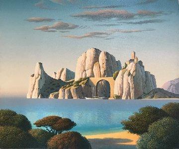 White Island 2011 20x24 Original Painting - Evgeni Gordiets