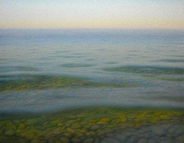 Waves 2008 28x36 Original Painting - Evgeni Gordiets