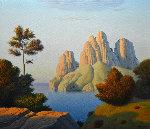 Seascape Evening 2007 28x32 Original Painting - Evgeni Gordiets