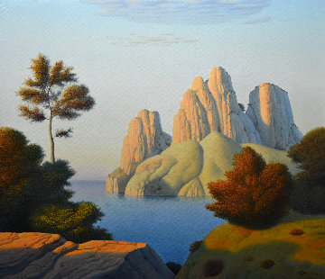 Seascape Evening 2007 28x32 Original Painting - Evgeni Gordiets