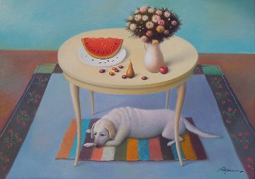 Fruits And Flowers 2017 20x28 Original Painting by Evgeni Gordiets