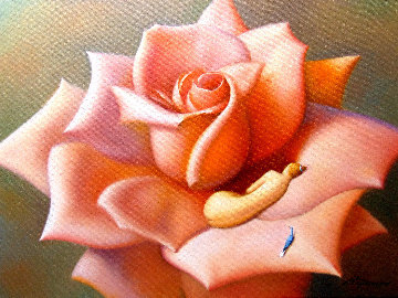 Rose 2019 18x24 Original Painting - Evgeni Gordiets