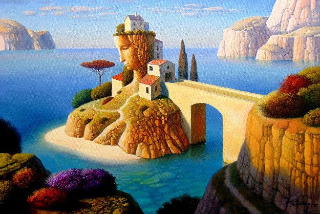 Yellow Bridge Island 2018 20x30 Original Painting by Evgeni Gordiets