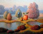 Evening Fall 2017 24x30 Original Painting - Evgeni Gordiets