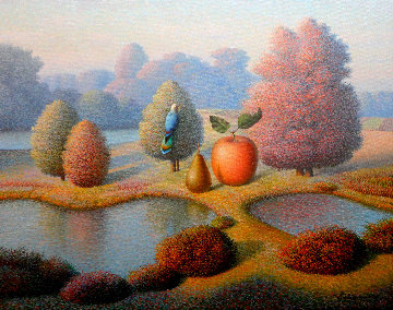 Evening Fall 2017 24x30 Original Painting - Evgeni Gordiets
