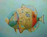 Fish With Flowers 2019 24x30 Original Painting - Evgeni Gordiets