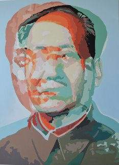 Anathema: Mao, Painting 2 2017 61x43 Original Painting - Gordon Carter