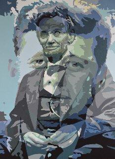 Anathema, Painting 10 2018 60x43 JFK and Lincoln Original Painting by Gordon Carter