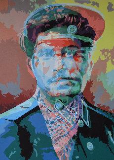 Anathema Painting 4, Stalin 2017 61x43 Huge Original Painting - Gordon Carter