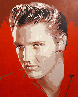 Icons of the 20th Century, Elvis 2019 20x17 Original Painting - Gordon Carter