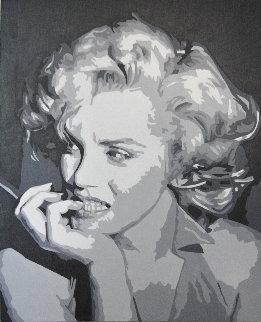 Icons of the 20th Century, Marilyn Monroe 2019 20x17 Original Painting - Gordon Carter