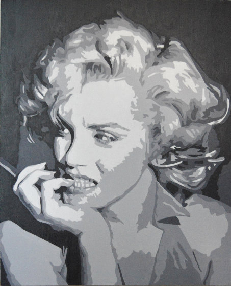 Icons of the 20th Century, Marilyn Monroe 2019 20x17 Original Painting by Gordon Carter