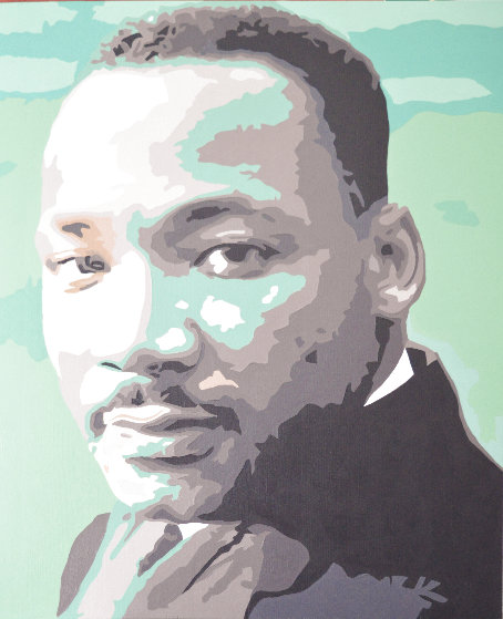 Icons of the 20th Century, Martin Luther King Jr. 2019 20x17 Original Painting by Gordon Carter