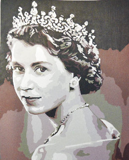 Icons of the 20th Century, Queen Elizabeth II 2019 20x17 Original Painting - Gordon Carter
