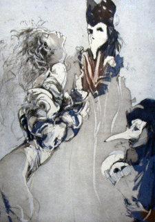 Demaskierung, Suite of 6 Etchings 1990 Limited Edition Print by Jurgen Gorg