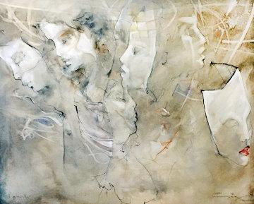 Maskenlichter 45x37 Original Painting - Jurgen Gorg