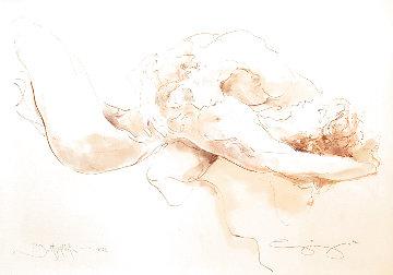 Bettgeflüster Watercolor 2002 12x17 Watercolor - Jurgen Gorg
