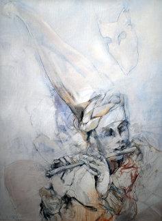 Venezianische Klang 1991 39x31 Original Painting - Jurgen Gorg