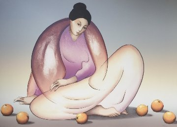 Woman With Oranges  1983 Limited Edition Print - R.C. Gorman