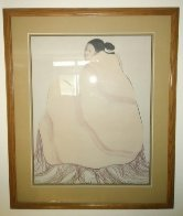 Lady in a Yellow Blanket 1977 Limited Edition Print by R.C. Gorman - 1
