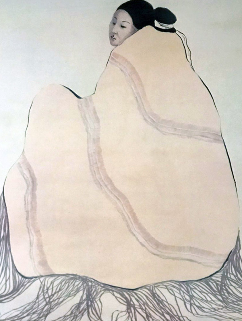 Lady in a Yellow Blanket 1977 Limited Edition Print by R.C. Gorman