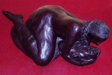 Mother And Child Bronze Sculpture Unique 1983 25 in Sculpture by R.C. Gorman