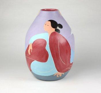 Repose Ceramic Sculpture 1986 42 in Sculpture by R.C. Gorman