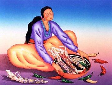 Maiz Azul 1995 Limited Edition Print by R.C. Gorman