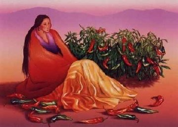 Chimayo Chilis 1992 Limited Edition Print - R.C. Gorman