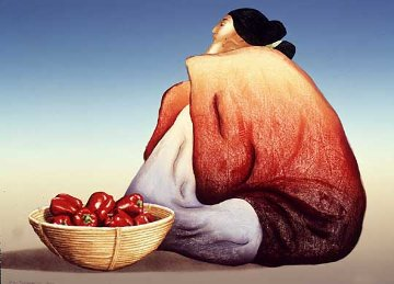 Red Peppers 1984 Limited Edition Print by R.C. Gorman