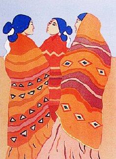 Gossips 1977 Limited Edition Print by R.C. Gorman