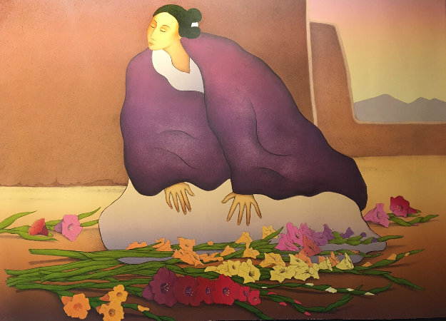 Taos Flower 1990 Limited Edition Print by R.C. Gorman